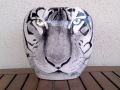 White Tiger Vase - front, on Oriental Vase