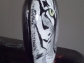 White Tiger Vase - side view