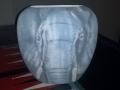African Elephant on Oriental Vase
