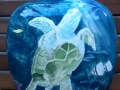 Sea Turtle on Oriental Vase